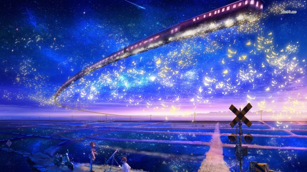 14685-train-in-the-sky-1366x768-anime-wallpaper